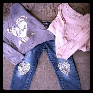 2pc Fall shirts